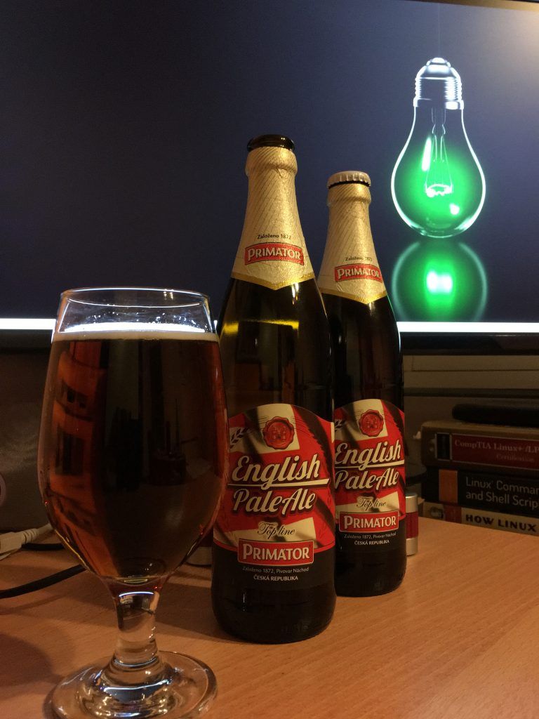 Наслаждавам се на Primator English Pale Ale :)